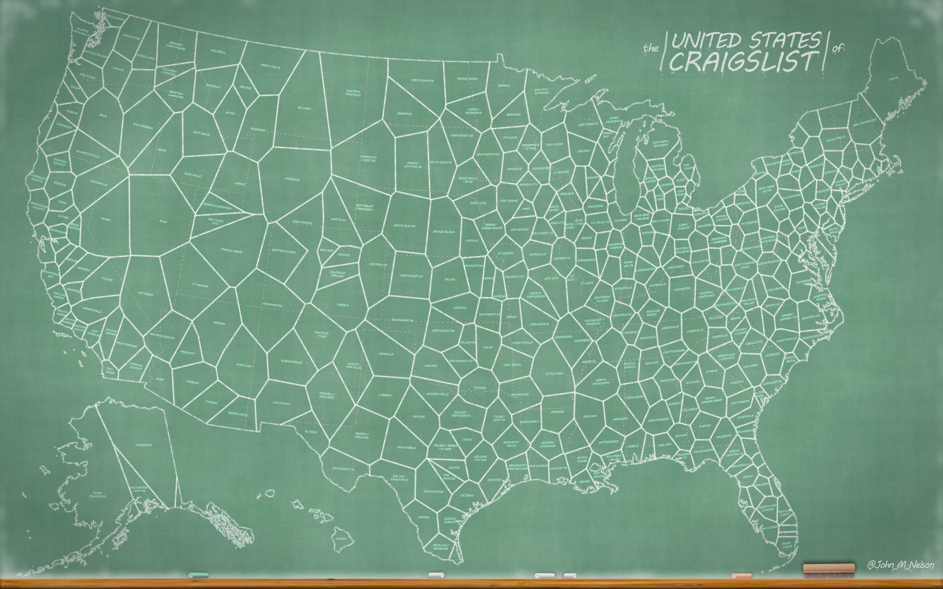 HowTo United States Of Craigslist Chalkboard Map Adventures - Us map gradient generator