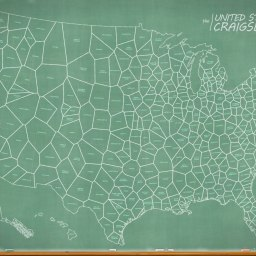 How-To: United States of Craigslist, Chalkboard Map