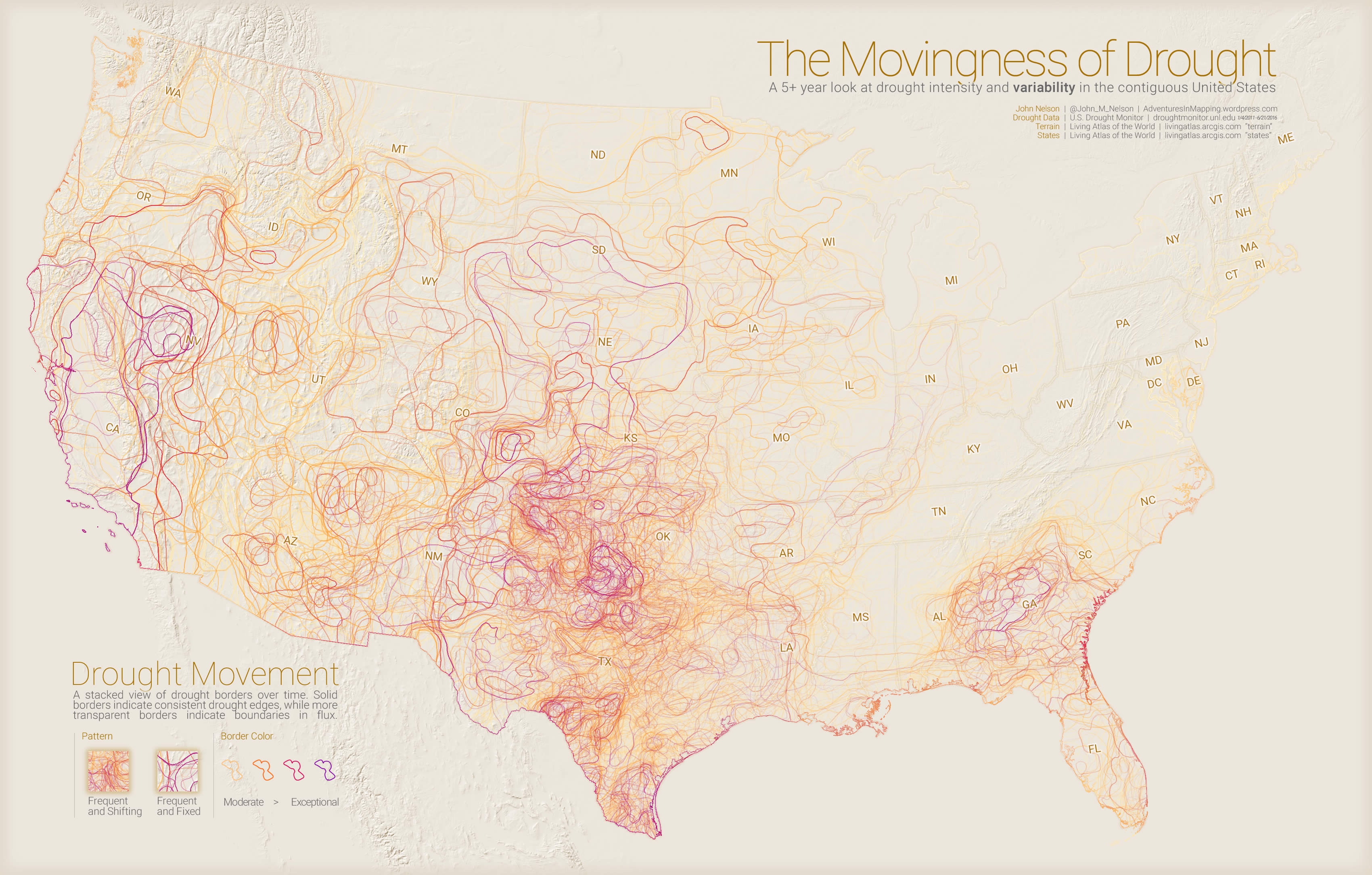 The Movingness Of Drought The Optimist S Drought Map