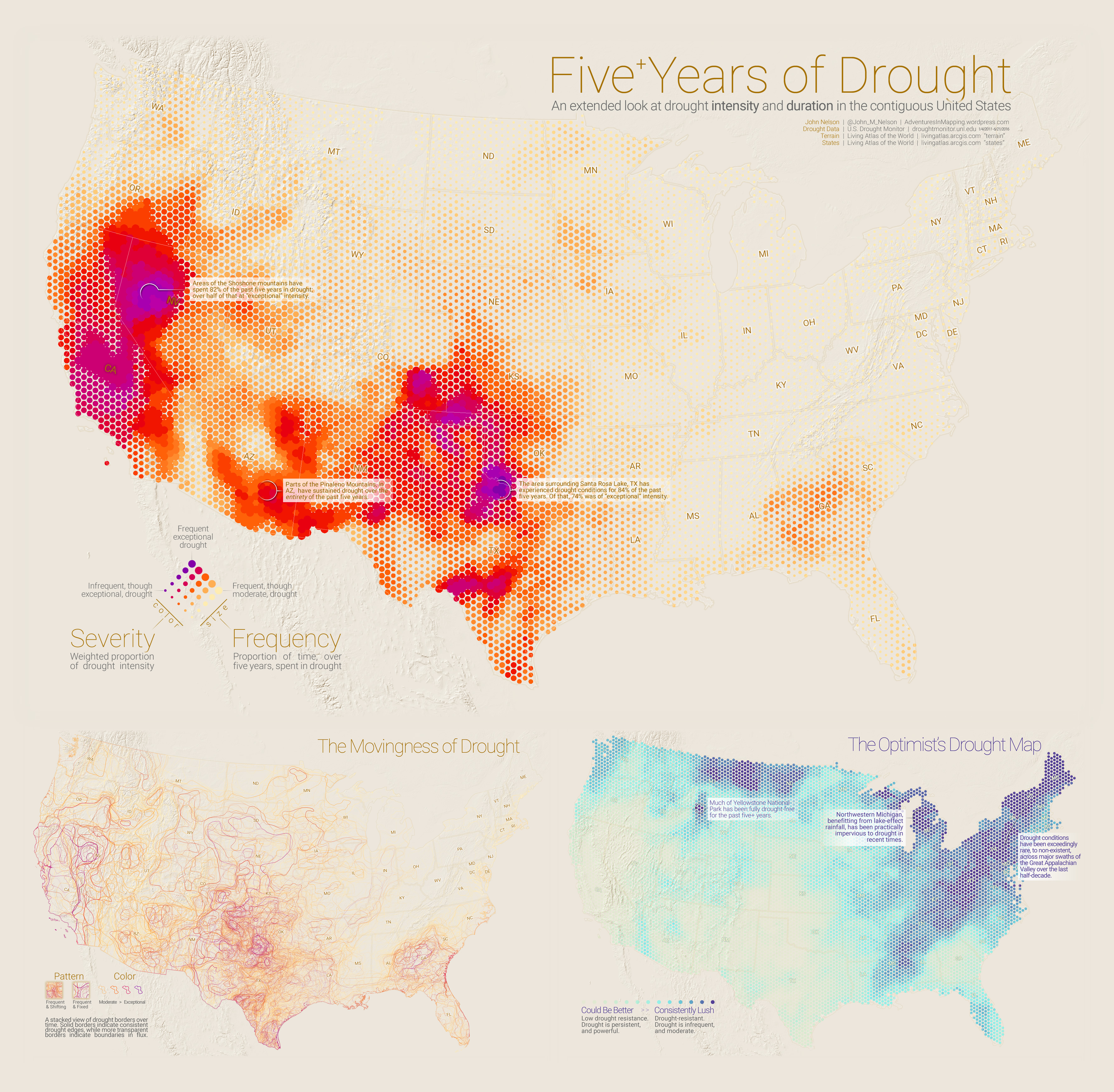 Five Years of Drought – Adventures In Mapping on