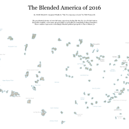 Adventures In Mapping Page Maps And Stuff Fun Things - Blended map of the us election