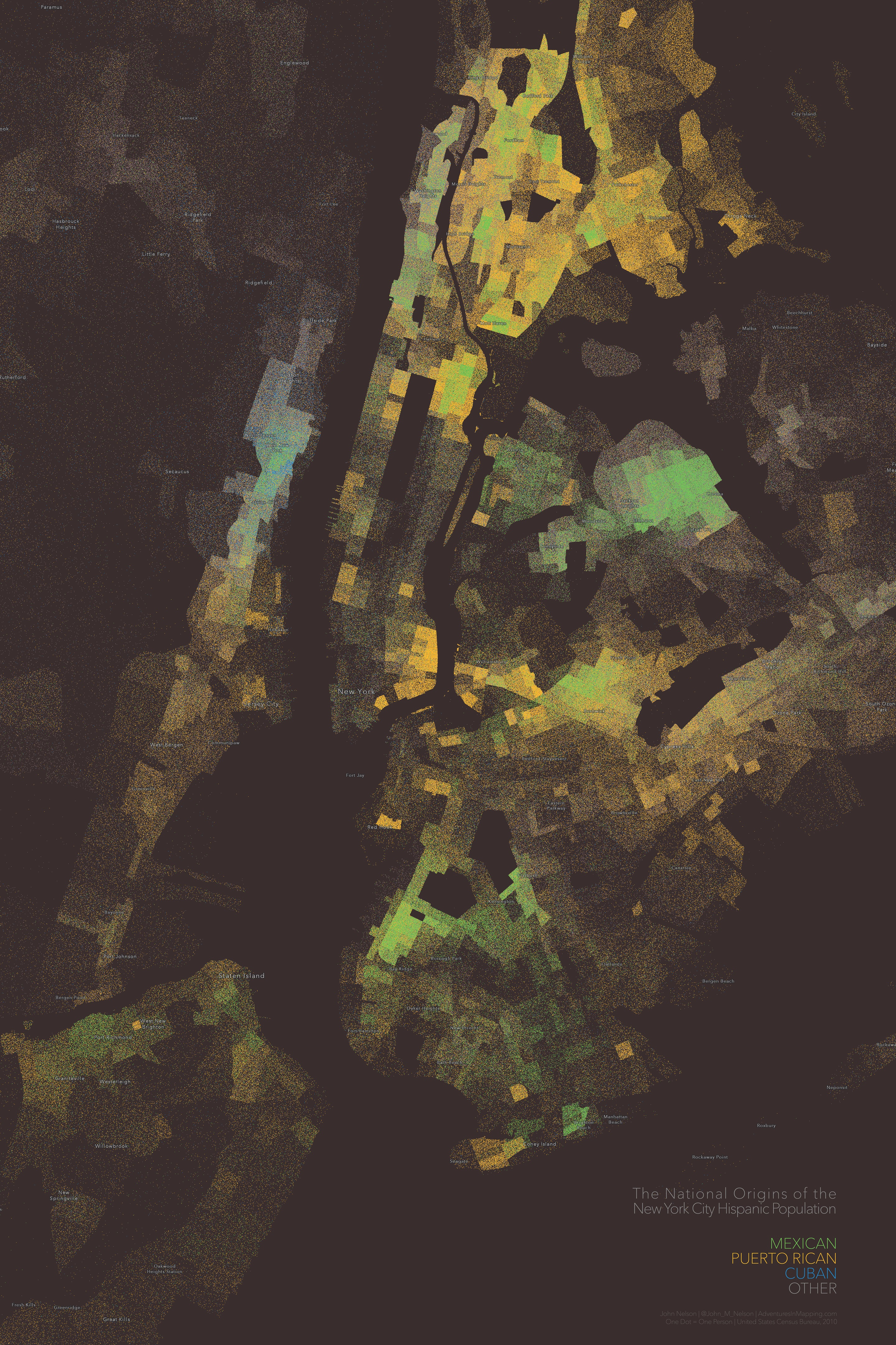 the hispanic population of nyc � adventures in mapping