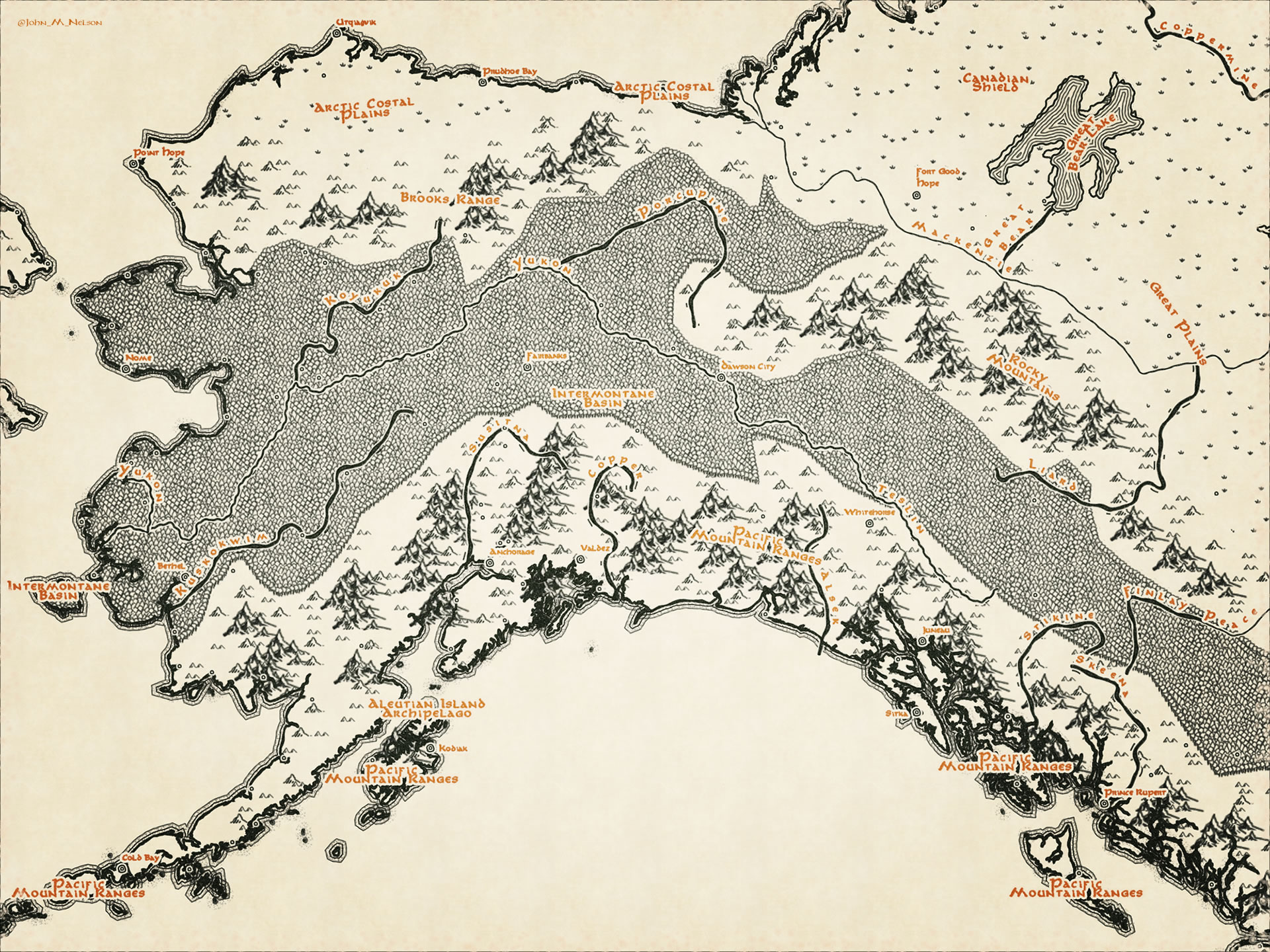 Middle Earth Map Style – Adventures In Mapping on