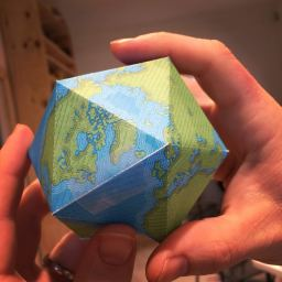 Dymaxion Globe Christmas Ornament Thing