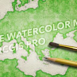 Mega Easy Watercolor Painting in ArcGIS Pro
