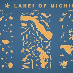 The Round, Long, and Crooked lakes of Michigan