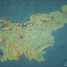 An Imhof-Inspired Map of Slovenia