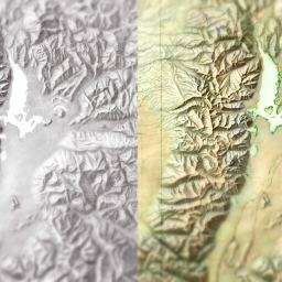 Colorize Vintage Black and White Hillshade Maps